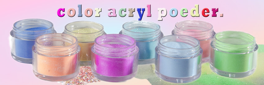 Color acryl powder