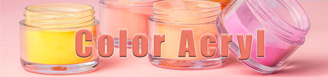 Color acryl powder