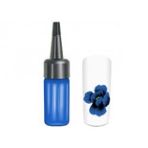One stroke paint blauw