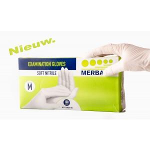 Handschoen soft nitrile wit