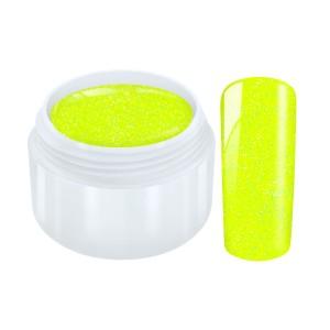 Neon glitter gel geel